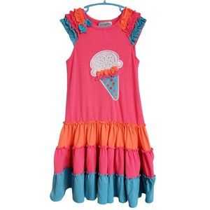 EMILY ROSE Bright Pink Ruffled Dress 7